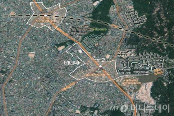 전략거점 육성 지역으로 선정된 연신내 불광동 일대 위치도. /사진제공=서울시