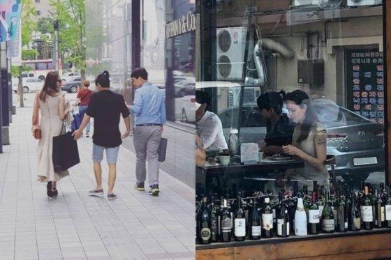 18일 안젤리나 졸리와 매덕스 두 모자가 종각역 인근 한 한우 고깃집에서 지인과 함께 담소를 나누며 식사를 즐기는 모습이 포착됐다. 19일에는 두 사람이 함께 서울 중구 소공로 신세계백화점 본점을 방문했다.