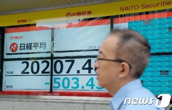 일본 증시 © AFP=뉴스1