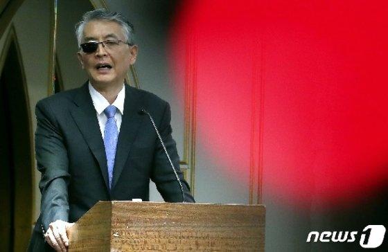 문은상 신라젠 대표이사 © News1 박정호 기자