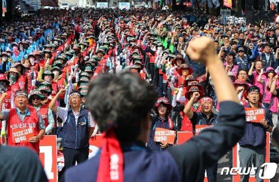 [사진] 민주노총, 비정규직 철폐 결의대회