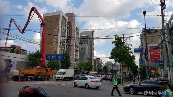 대곡-소사 4공구 지하 발파 지점 위인 경기 부천시 원종사거리 모습/사진= 박미주 기자