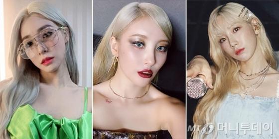 가수 티파니 영, 선미, 태연 /사진=각 인스타그램