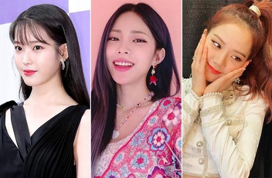 가수 겸 배우 아이유, 가수 헤이즈, 블랙핑크 지수 /사진=머니투데이 DB, 인스타그램