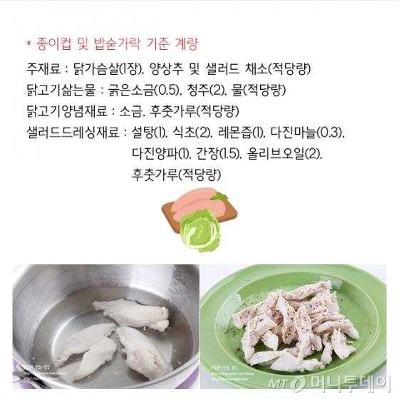 [뚝딱한끼] 추석전엔 가볍게 '닭가슴살 샐러드'