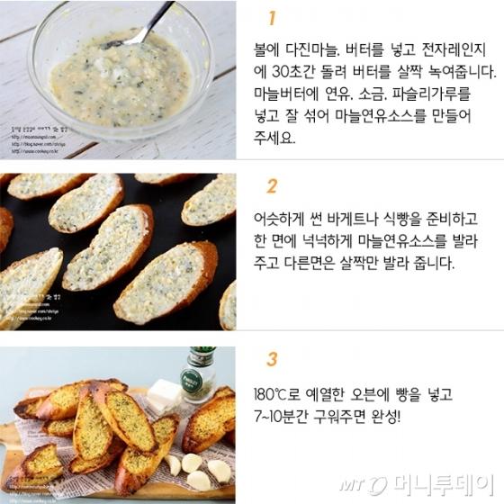 [뚝딱한끼] 커피랑 먹으면 꿀맛 '연유 마늘빵'