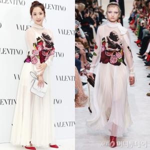 박민영 vs 모델, 난해한 드레스?…