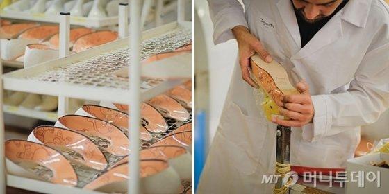 라인프렌즈x레페토 '초코 리미티드 에디션 산드리옹' 제작 모습 /사진제공=라인프렌즈