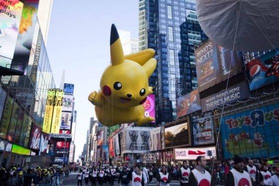 24일(현지 시간) 미국 뉴욕의 센트럴파크에서 제85회 메이시스 추수감사절 퍼레이드가 열리고 있다. / 사진제공=AFP