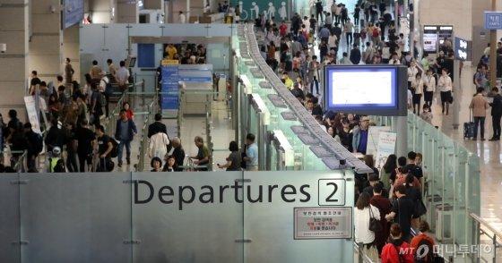 [사진]추석연휴 맞아 붐비는 공항