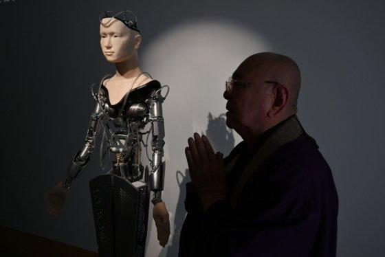 일본 교토의 고다이지에 있는 로봇 승려 '마인더'. /사진=AFP