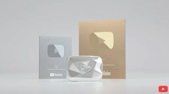 구독자 수에 따라 제공하는 실버, 골드, 다이아몬드 크리에이터 상. / 사진 = 유튜브