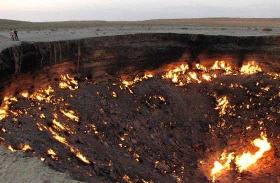 50년 가까이 불타고 있는 투르크메니스탄의 싱크홀, '지옥의 문' 사진 / 사진= AFP