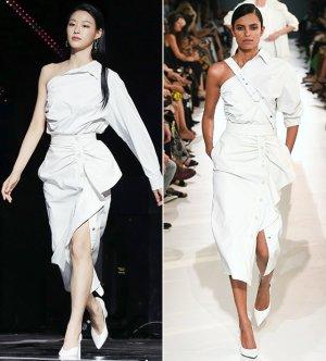 설현 vs 모델, 어깨선 드러낸 파격 패션…