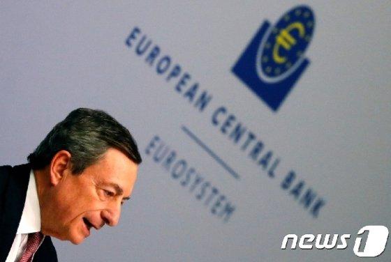 마리오 드라기 유럽중앙은행 총재. © 로이터=뉴스1