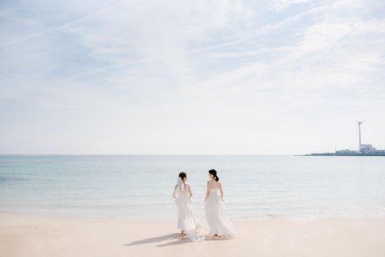 결혼을 앞두고 있는 김규진씨 커플의 웨딩촬영 사진 /사진제공=김규진씨