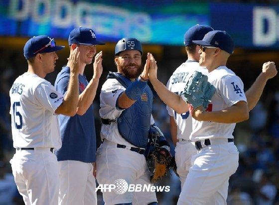 LA 다저스 선수들.  /AFPBBNews=뉴스1