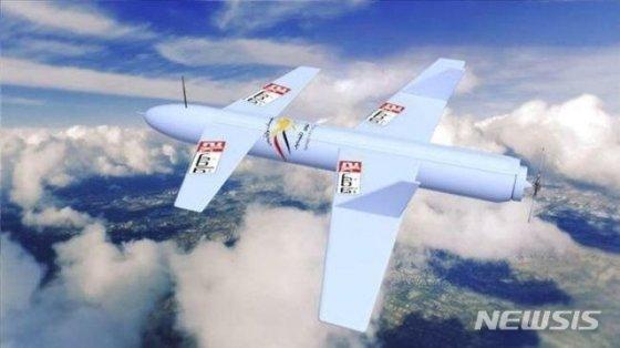 예멘 후티반군은 5일(현지시간) 자체 개발한 드론 Qasef-2K(Striker-2K)을 이용해 사우디아라비아 아브하공항과 나즈란공항, 킹 칼리드 군사기지를 공격했다고 발표했다./사진=이란 국영방송 홈페이지 갈무리, 뉴시스