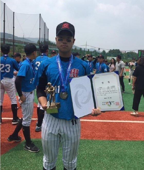 모가중 김나빈. /사진=대한유소년야구연맹