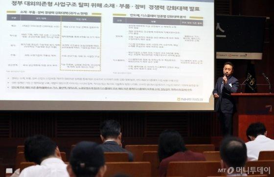 [사진]발표하는 김중곤 NH투자증권 ECM본부장