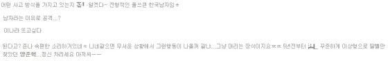'양준혁 스캔들'서 부정적인 반응을 보인 댓글들. / 사진 = 온라인 커뮤니티 캡쳐