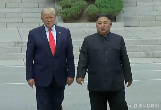 도널드 트럼프 미국 대통령과 김정은 북한 국무위원장