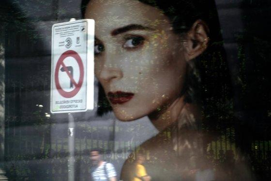 스페인 수도 마드리드 중심가의 광고판. /사진=AFP