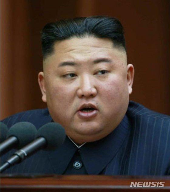 북한 김정은 국무위원회 위원장이 12일 조선민주주의인민공화국 최고인민회의 제14기 제1차회의에서 한 시정연설을 했다며 13일 노동신문이 보도했다. /사진=뉴시스