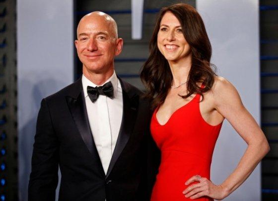 제프 베조스 아마존 CEO와 전 부인 매킨지 베조스. /사진=로이터