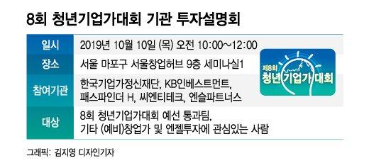 [알림]8회 청년기업가대회 '기관 투자설명회' 개최