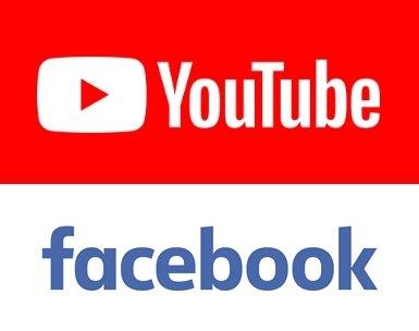 유튜브(위), 페이스북 로고
