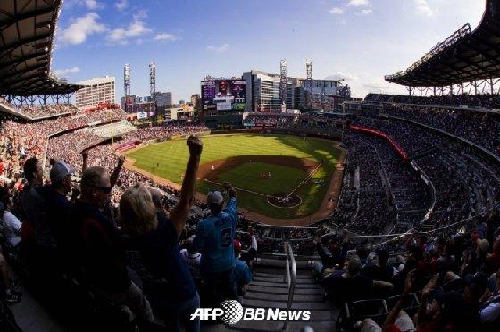 10일(한국시간) 선트러스트 파크 전경. /AFPBBNews=뉴스1