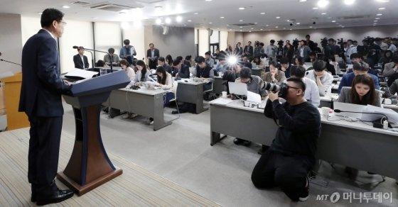 [사진]은성수 금융위원장 '첫 기자간담회'