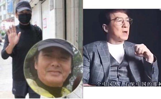 홍콩 시위를 지지하는 주윤발과 '중국 찬양 발언'인터뷰를 하는 성룡. / 사진 = 트위터