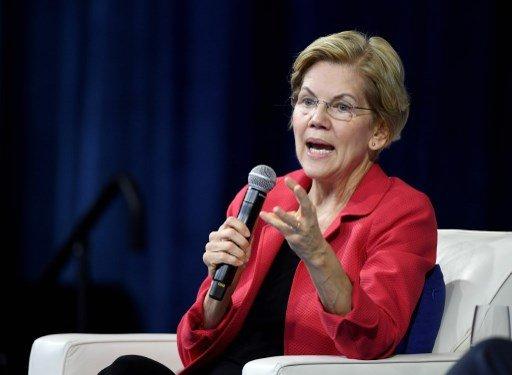 미국 민주당 대선 경선 주자 엘리자베스 워런 상원의원 /사진=AFP