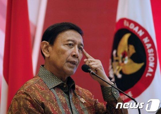 위란토 인도네시아 정치법률안보조정부 장관. © 로이터=뉴스1