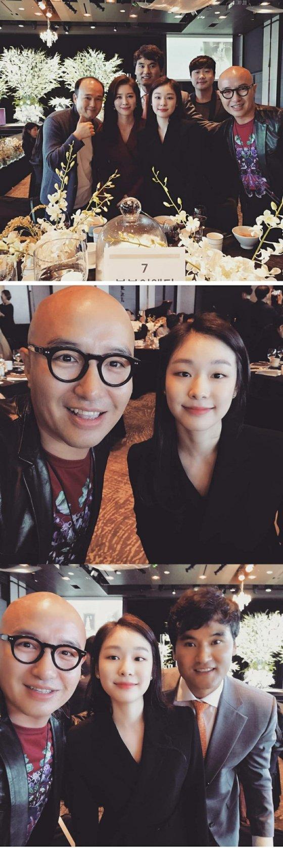 이상화와 강남 결혼식에 참석한 김연아/ 사진= 홍석천 인스타그램 캡처본
