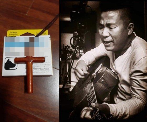 김철민이 11일 페이스북을 통해 개 구충제 사진과 자신의 모습을 공개했다./사진=김철민 페이스북 캡처
