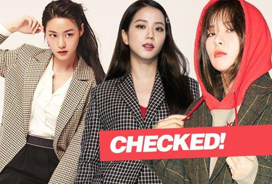 그룹 AOA 설현, 블랙핑크 지수, 레드벨벳 슬기/사진=각 스타 인스타그램, 버버리