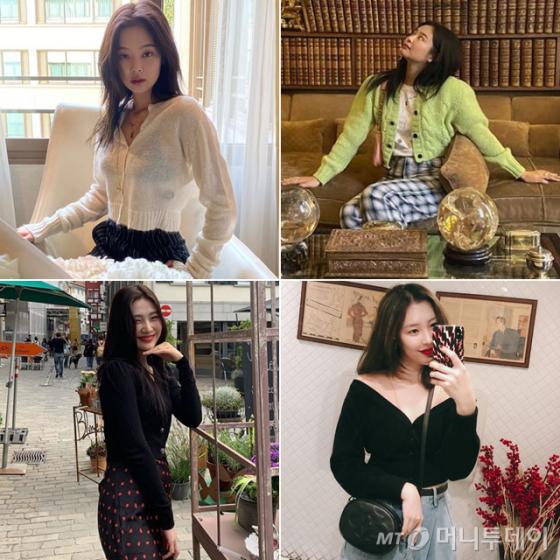 그룹 블랙핑크 제니, 레드벨벳 조이, 가수 선미 /사진=각 인스타그램