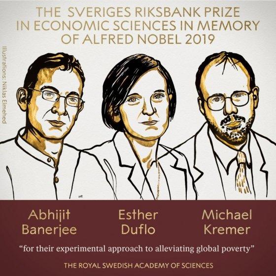 노벨 경제학상, 듀플로 등 3명 수상…2번째 여성 수상자 (상보) - 머니투데이 뉴스