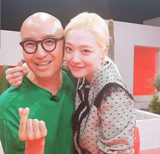 홍석천과 설리/사진=홍석천 인스타그램