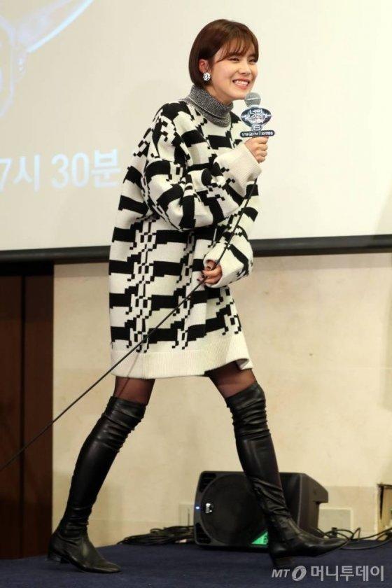 개그우먼 장도연이 16일 오후 서울 마포구 스탠포드호텔에서 열린 엠넷 '너의 목소리가 보여 시즌`6'의 제작발표회에 참석하고 있다. / 사진=임성균 기자 tjdrbs23@