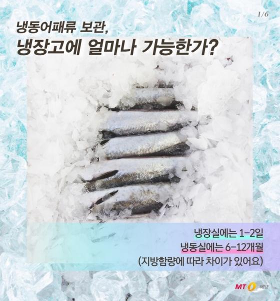 [바다정보다잇다] 수산물의 냉동보관 방법과 유통기한