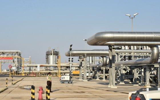 사우디아라비아 국영회사 아람코의 아바이크 원유 생산시설. /사진=AFP