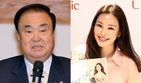 왼쪽부터 문희상 국회의장, 배우 이하늬/사진=홍봉진 기자, 사진제공=한국후지필름
