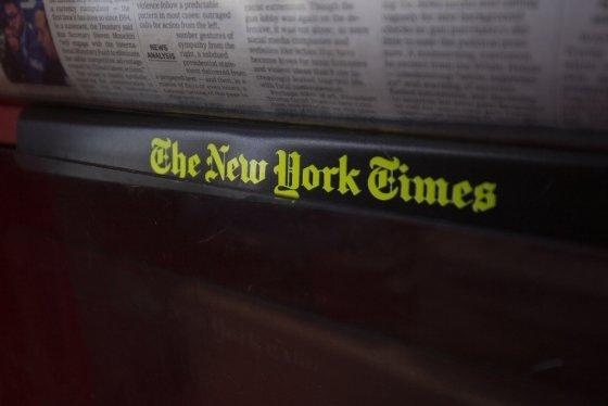 미 유력 일간지 뉴욕타임스 로고. /사진=AFP