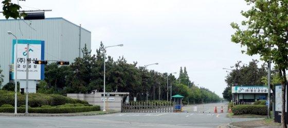 명신 군산공장 정문./사진=김창현 기자