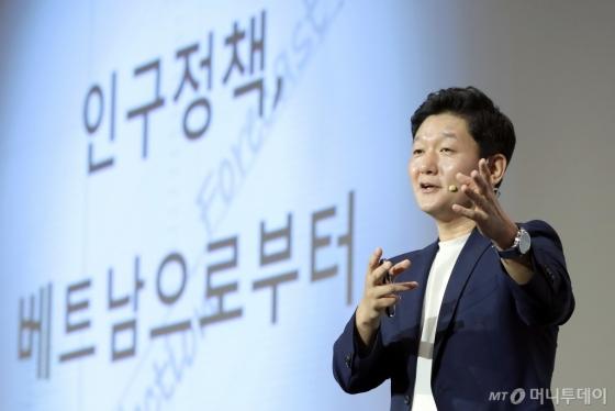 [사진]조영태 교수, 2019 인구이야기 팝콘 특별강연