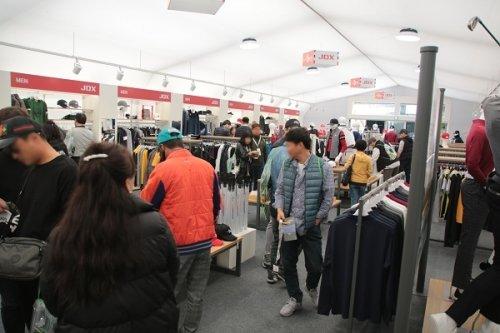 지난 17~20일 제주 클럽 나인브릿지에서 진행된 더 CJ컵 'JDX MD Shop'/사진제공=JDX